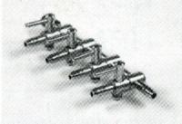 Luftventil/Luftverteiler 4-fach aus Metall für Schlauch 4/6mm