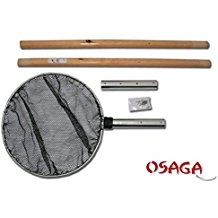 OSAGA Koi-Kescher mit Holzgriff, zerlegbar 3-teilig, Ø 50 x 210