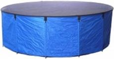 Tripond Faltbecken blau, d: 300cm x H: 120cm mit Abdeckung