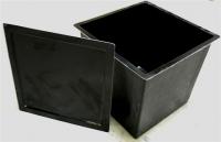 AquaLogistik GFK-Pumpenschacht mit Deckel klein 68 x 68 x61,5 cm
