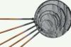 Japankescher mit Holzstiel Länge 60 cm, Ø 40 cm rund