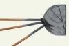 Japankescher mit Holzstiel Länge 60 cm, Ø 30 cm halbrund