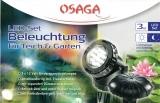 OSAGA LED Teichbeleuchtung,12 Volt, 3er-Set,3 x 1,5Watt